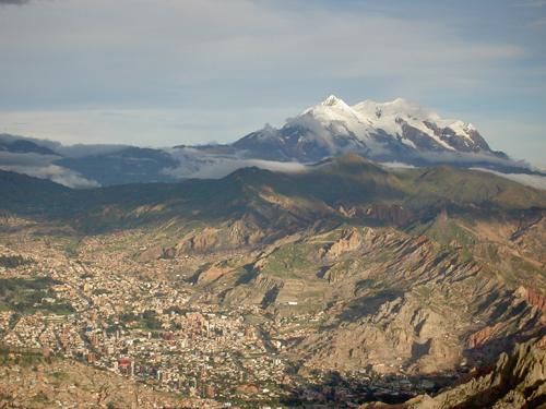 Blick von El Alto auf La Paz