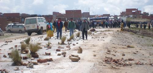 Protestblockaden El Alto